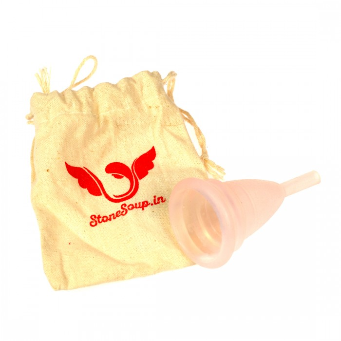 Stonesoup Pratham Stem Menstrual Cup Pink