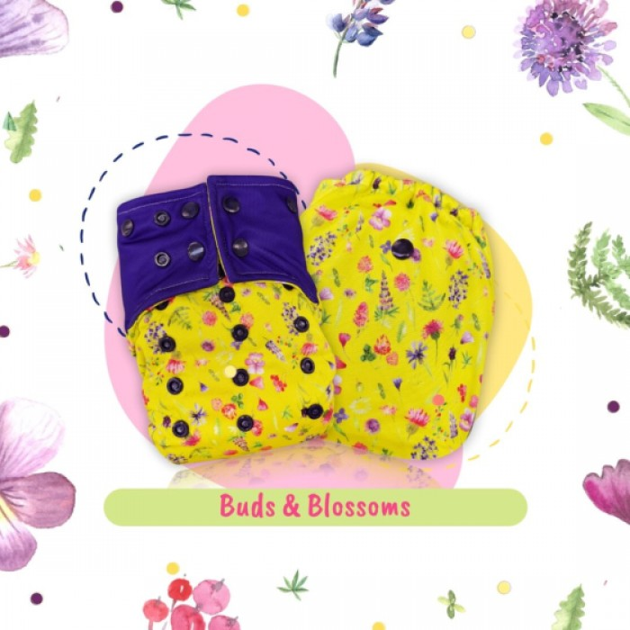 A Todder Thing - Cover Diaper - Buds and Blossoms (Regular)