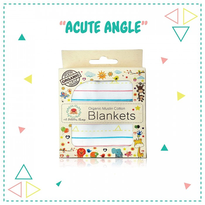 A Toddler Thing - Organic Muslin Cotton Blanket - Geo Lines