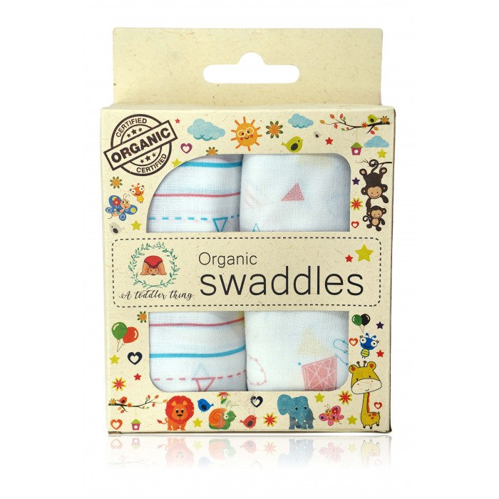 A Toddler Thing - Muslin Swaddles - Kites