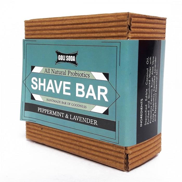 Goli Soda - All Natural Probiotics Shave Bar - Peppermint & Lavender - Handmade/Biodegradable / Non Toxic/Cruelty Free/Palm Oil Free