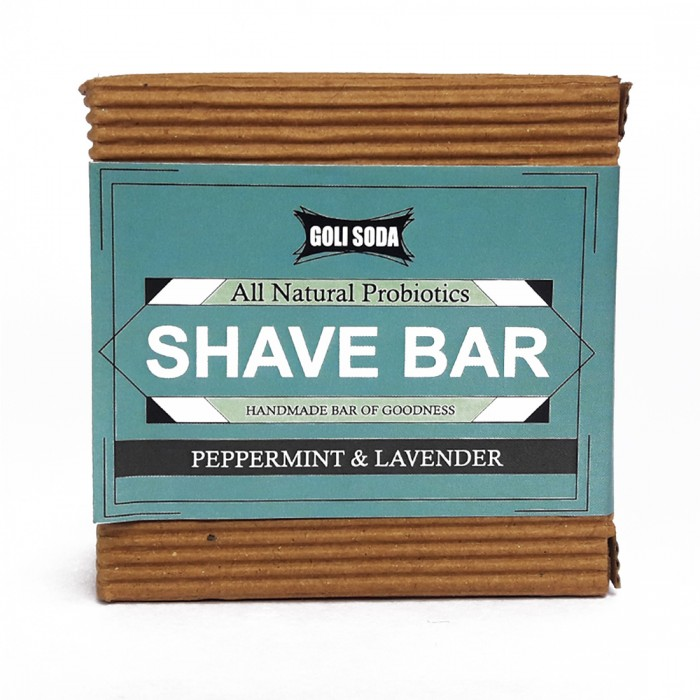 Goli Soda - All Natural Probiotics Shave Bar - Peppermint & Lavender - Handmade/Biodegradable / Non Toxic/Cruelty Free/Palm Oil Free