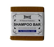 Goli Soda - Probiotics Shampoo Bar For Normal Hair 90 gm - All Natural / Biodegradable / Non Toxic / Cruelty Free / Palm Oil Free