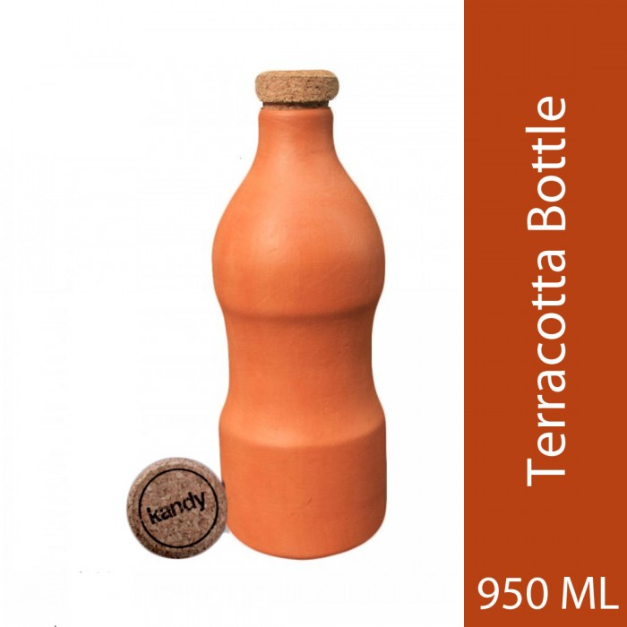 Kandy - Ecofriendly Bottles Teracotta Water Bottle with Capacity 950 Ml