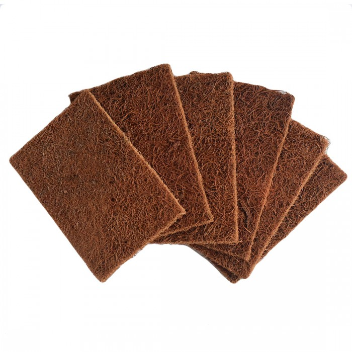 Goli Soda - Natural Coconut Coir Dishwashing Scrub Pads - Combo Pack Of 6 Scrubs - Biodegradable/Eco Friendly