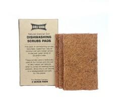 Goli Soda - Natural Coconut Coir Dishwashing Scrub Pads (Set of3)-  100 % Bio-degradable