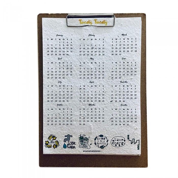 DoodleBar Sustainable Seed Paper Calendar/Planner - 2020