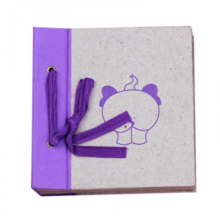 Haathi Chaap - Memory Book - Small Album (Purple)
