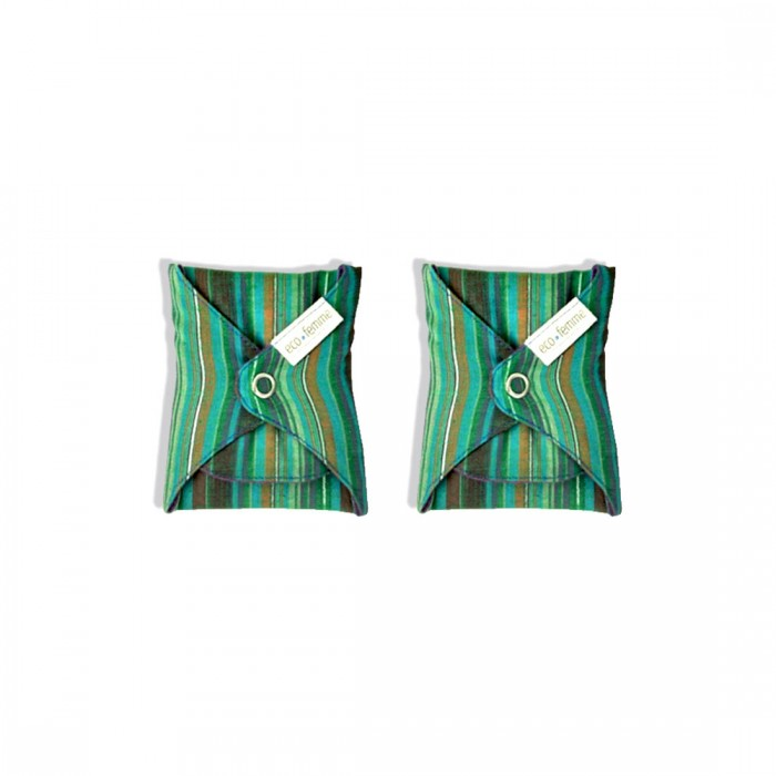 Eco Femme GOTS Certified Vibrant Organic Day Pad Plus - Twin Pack