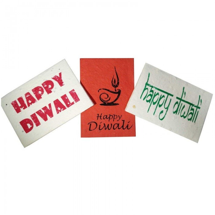 Jalebi - Plantable Diwali Cards - Set of 10 - Handmade Paper With Live Organic Seeds
