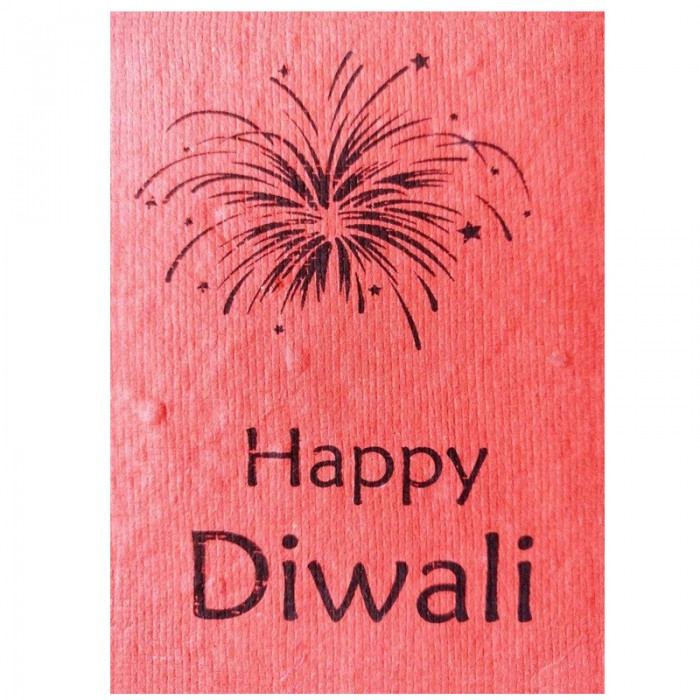 Jalebi - Plantable Diwali Cards - Set of 10 - Handmade Paper With Live Organic Seeds