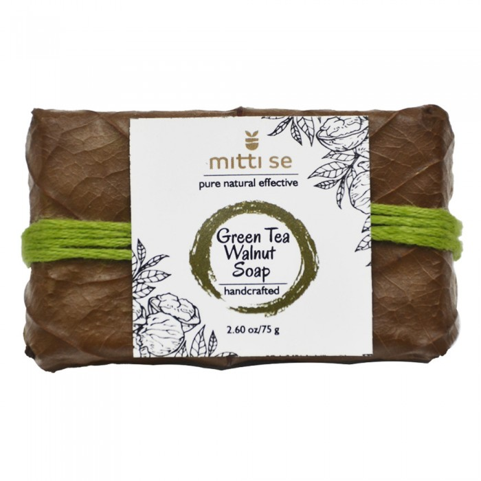 Mitti Se Green Tea & Walnut Soap (75 g)