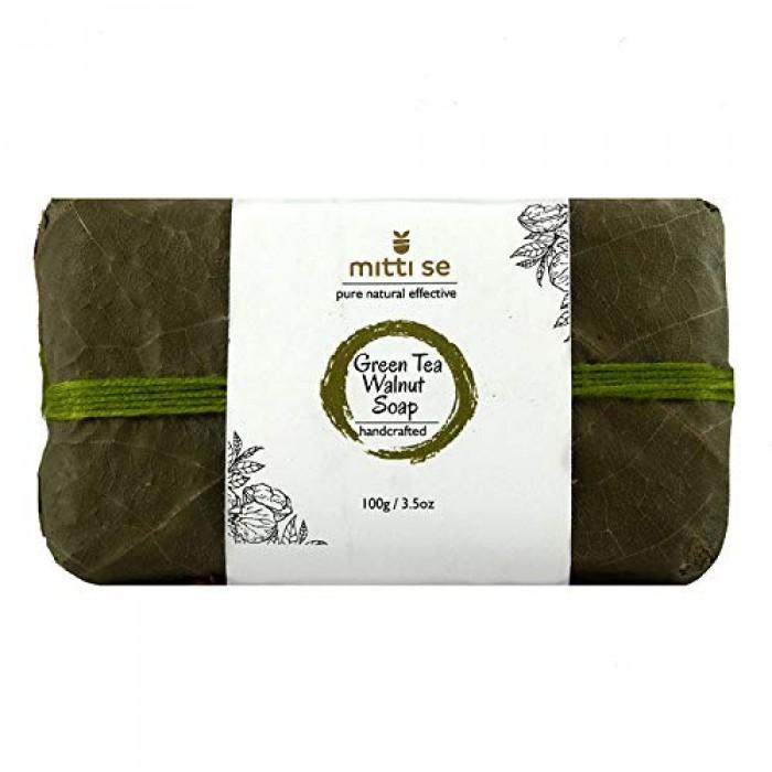 Mitti Se Green Tea & Walnut Soap (100 g)