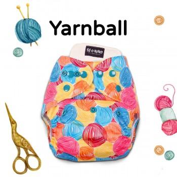 Fig-O-Honey Yarnball Print One-Size Cloth Diaper