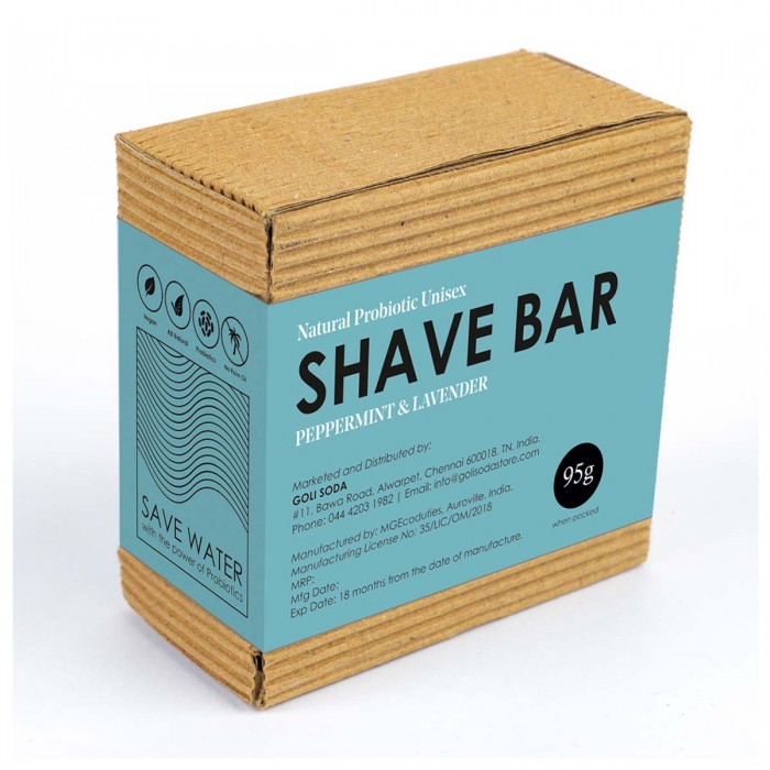Goli Soda All Natural Probiotics Shave Bar - 95 g