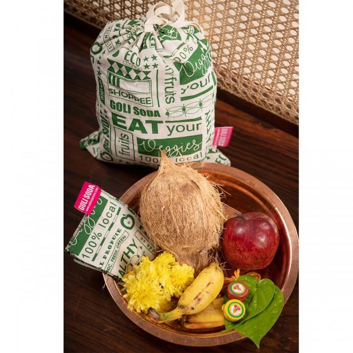 GOLI SODA Go Green Thamboolam Bag ( Set Of 4) - Medium