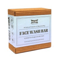 GOLI SODA All Natural Probiotics & Rejuvenating Face Wash Bar (Pack of 1)