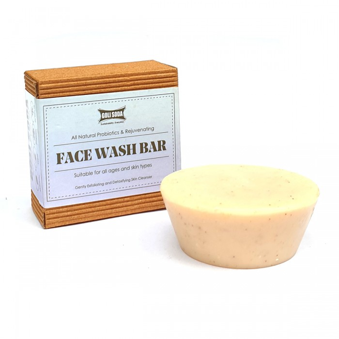 GOLI SODA All Natural Probiotics & Rejuvenating Face Wash Bar (Pack of 2)