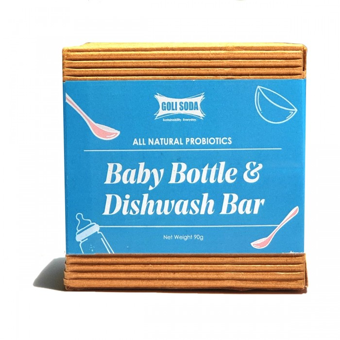 GOLI SODA All Natural Probiotics Baby Bottle & Dishwash Bar