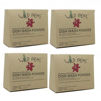 Wild Ideas Hand Made Dish Wash Powder (Pack of 4)