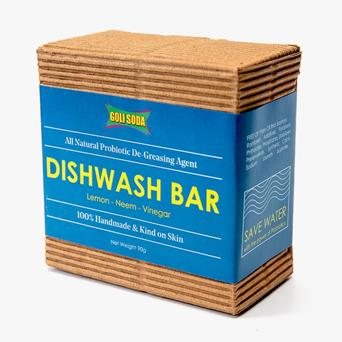 GOLI SODA All Natural Probiotic De Greasing Agent Dishwash Bar