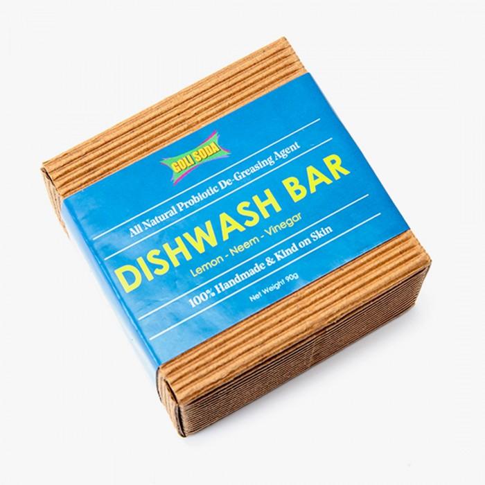 GOLI SODA All Natural Probiotic De Greasing Agent Dishwash Bar