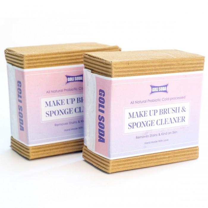 Goli Soda All Natural Probiotics Make Up Brush & Sponge Cleaner - 90 g-(Pack Of 2)