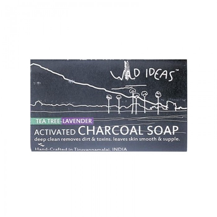 Wild Ideas Activated Charcoal Soap - Tea Tree & Lavender