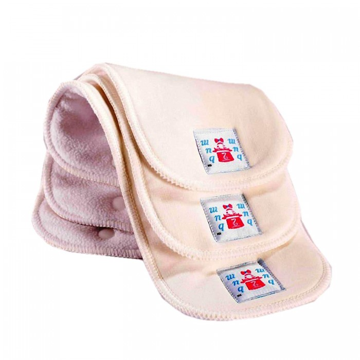 Bum 2 Bum New Born 4 Layer Bamboo Cotton Insert And 1 Layer Microfleece (Set Of 3)