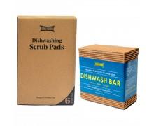 GOLI SODA Coconut Coir Scrub And Probiotic Dishwash Bar - Exclusive Combo