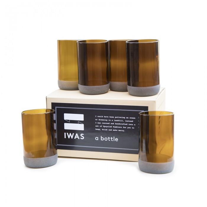 IWAS - Tall Auburn Glasses - 350 ml (Set Of 6)