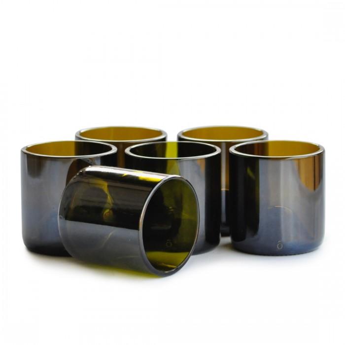 BÔTL Upcycled Drinking Glasses - Olive Green - 400 ml (Set Of 6)