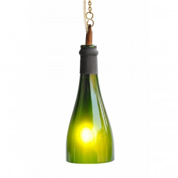 BÔTL Recycled Champagne Bottle Hanging Pendant Light - Green