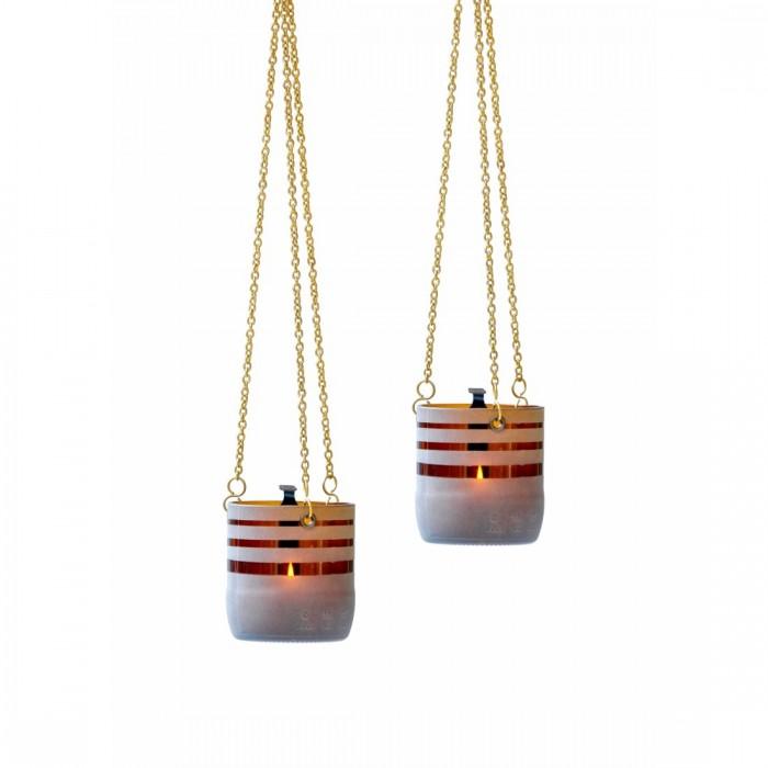 BÔTL Upcycled Striped Hanging Tealight