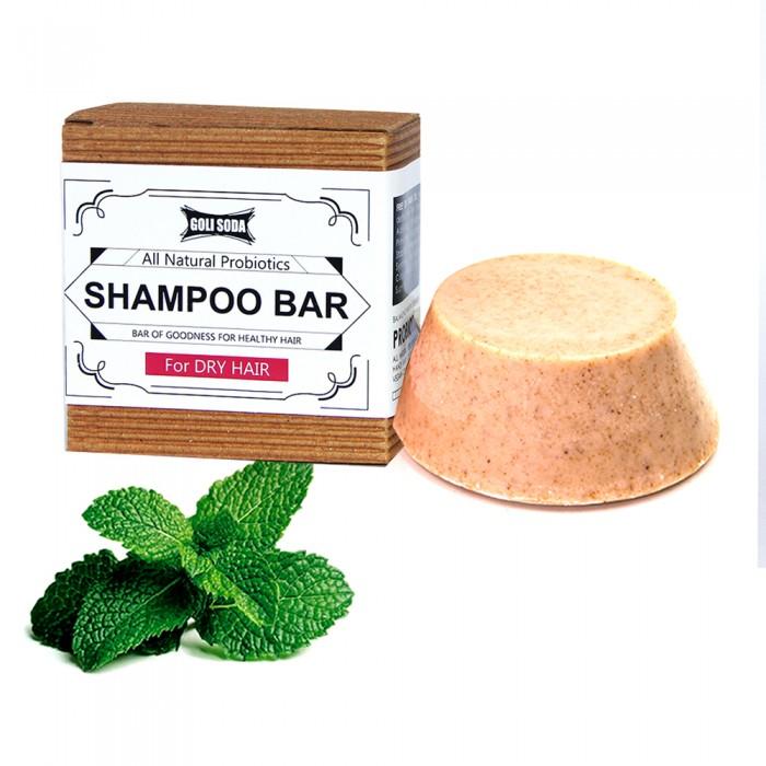 Goli Soda - Probiotics Sulphate Free Shampoo Bar For Dry Hair 90 gm - Pack of 2