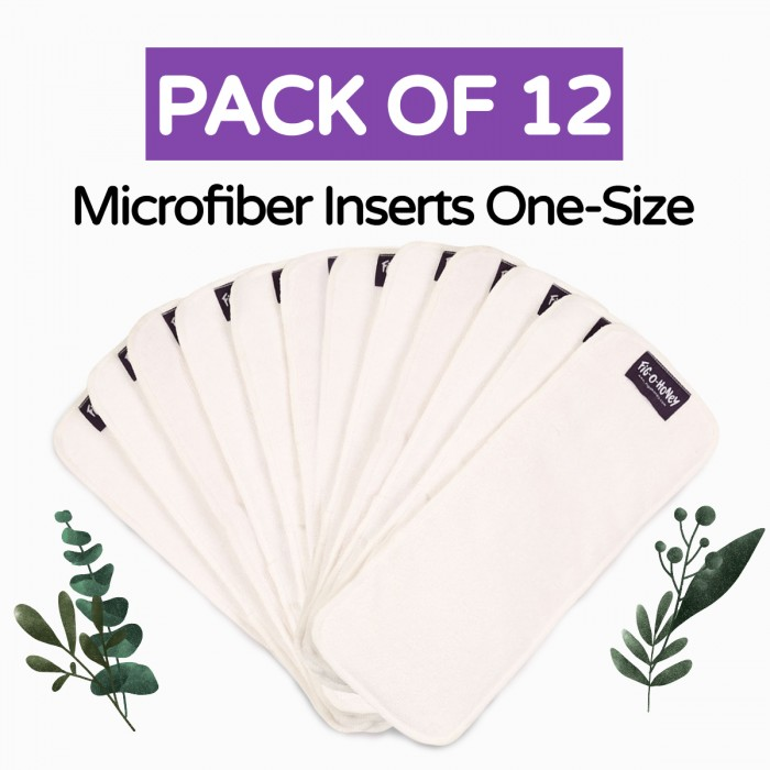 Fig-O-Honey Microfiber Insert One-Size 3 Layers - Pack Of 12