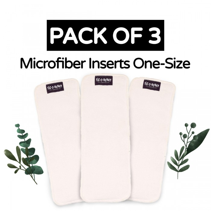 Fig-O-Honey Microfiber Insert One-Size 3 Layers - Pack Of 3