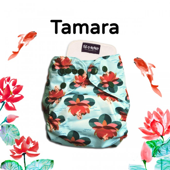 Fig-O-Honey Tamara Print One-Size Cloth Diaper With 1 Insert