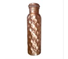 Deivee Textured Copper Water Bottle