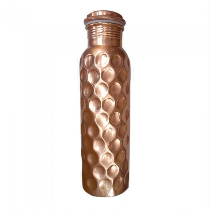 Deivee Textured Copper Water Bottle