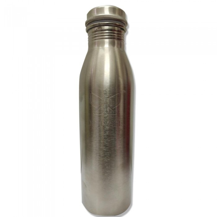 Deivee Copper Water Bottle - Silver Colour Matte finish engraved logo