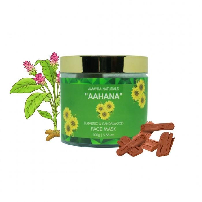 AMAYRA NATURALS Aahana - Turmeric Sandalwood Face Mask - 100 g