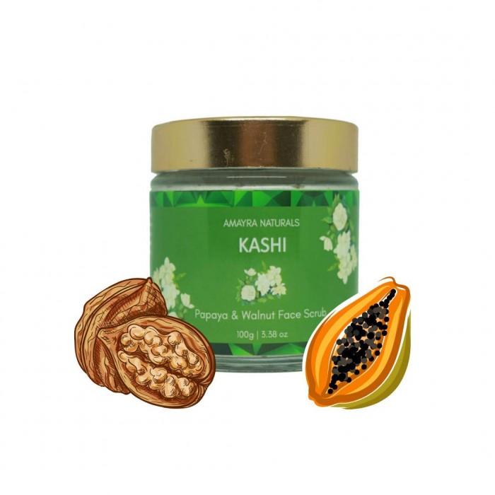 AMAYRA NATURALS Kashi - Papaya Walnut Face Scrub - 100 g