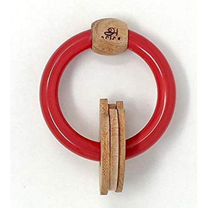 "Ariro Circular Rattle With Mushrooms €"" Red"