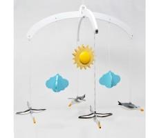 Ariro Wooden Mobile - Seagulls