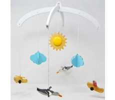 Ariro Wooden Mobile - Planes And Seagulls