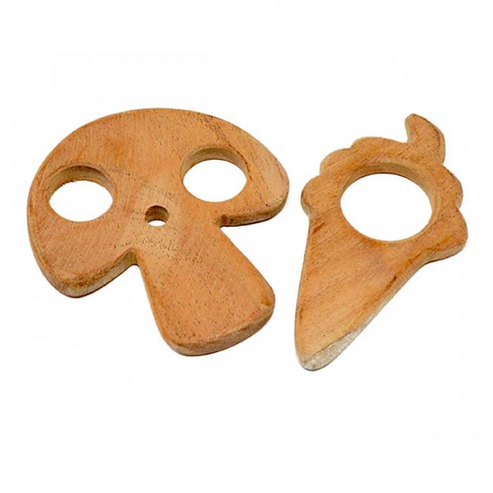 Ariro Wooden Teethers - Mushroom and Ice cream cone