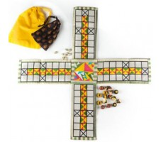 Pachisi Hand - Embroidered Board Game