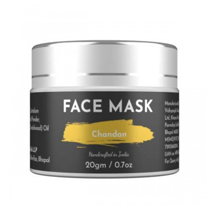 Ecocradle Cleansing Anti-Aging Chandan (Sandalwood) Face Mask Face Pack, 20Gm