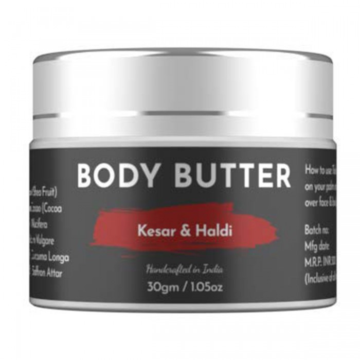 Ecocradle Deep Moisturizing Kesar & Haldi Body Butter, 30gm